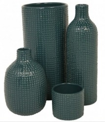 Vase chubby dotty (petroleum)