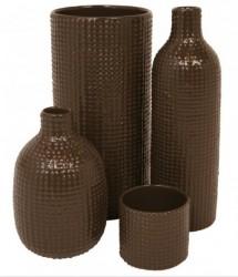 Vase tall dotty (brun)
