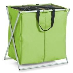 Vasketøjskurv 2 rum - lime