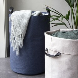 Vasketøjskurv rund - blå