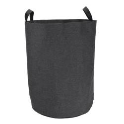 Vasketøjspose rund - sort
