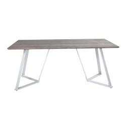 VENTURE DESIGN Marina spisebord - grå MDF og hvid metal (180x90)