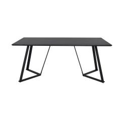VENTURE DESIGN Marina spisebord - sort MDF og sort metal (180x90)