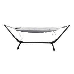 VENTURE DESIGN Niño udendørs hængekøje - beige stof, sort stål og plastik
