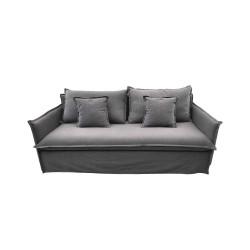 VENTURE DESIGN Nova 3 pers. sofa - mørkegrå stof og plastik