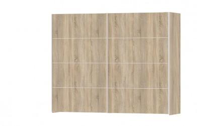Verona garderobeskab - egestruktur træ, 2 skydedøre, bred