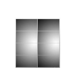 Verona Skydedørsskab - hvid/spejlglas, m. 2 skydedøre