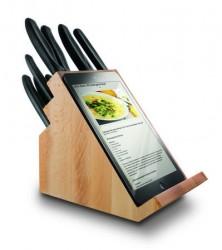 Victorinox Knivblok med 12 stk knive, sort håndtag, birk