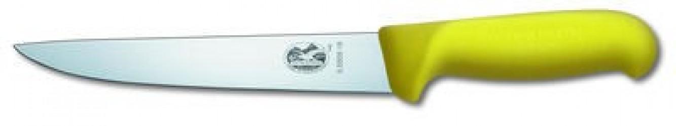 Victorinox Stykningskniv, gul Fibrox, med lige knivryg