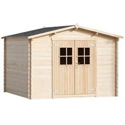 vidaXL 28 mm Garden House Shed/Log Timber Cabin 3x3 m Wood