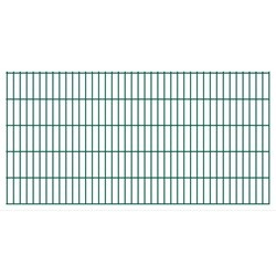 vidaXL 2D Garden Fence Panels 2008x1030 mm 20 m Green