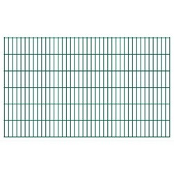 vidaXL 2D Garden Fence Panels 2008x1230 mm 34 m Green