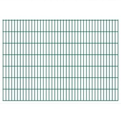 vidaXL 2D Garden Fence Panels 2008x1430 mm 42 m Green
