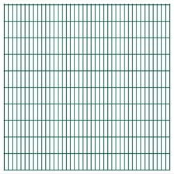 vidaXL 2D Garden Fence Panels 2008x2030 mm 24 m Green