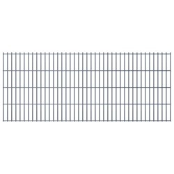 vidaXL 2D Garden Fence Panels 2008x830 mm 38 m Grey