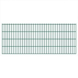 vidaXL 2D Garden Fence Panels 2008x830 mm 46 m Green