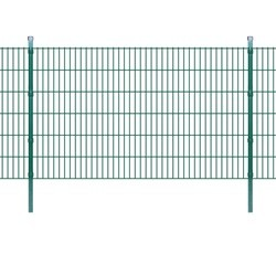 vidaXL 2D Garden Fence Panels & Posts 2008x1230 mm 22 m Green