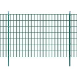 vidaXL 2D Garden Fence Panels & Posts 2008x1430 mm 30 m Green