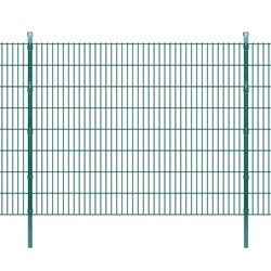 vidaXL 2D Garden Fence Panels & Posts 2008x1630 mm 48 m Green