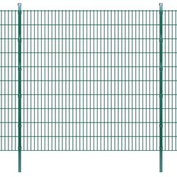 vidaXL 2D Garden Fence Panels & Posts 2008x2030 mm 40 m Green