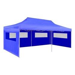 vidaXL Blue Foldable Pop-up Party Tent 3 x 6 m