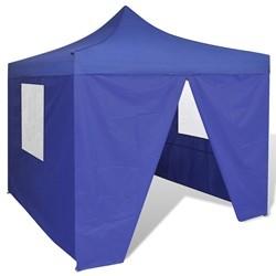 vidaXL Blue Foldable Tent 3 x 3 m with 4 Walls