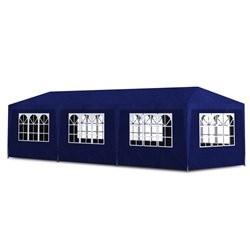vidaXL Blue Partytent with 8 Walls 9 x 3 x 2.5 m