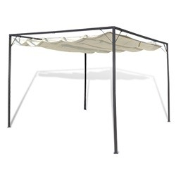 vidaXL Garden Gazebo with Retractable Roof Canopy