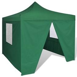 vidaXL Green Foldable Tent 3 x 3 m with 4 Walls
