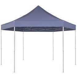 vidaXL Hexagonal Pop-Up Foldable Marquee Dark Blue 3.6x3.1 m