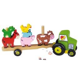Vilac traktor med stabeldyr