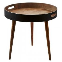 Villa Collection Bakkebord Natur Træ Ø 46 cm