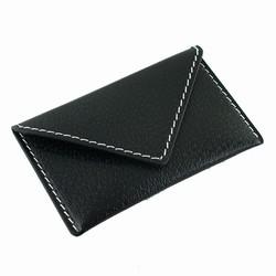 Visitkortholder / kreditkortholder - sort læder
