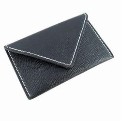 Visitkortholder - sort læder