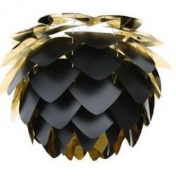 VITA lampeskærm - Silvia - Sort og guld