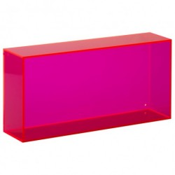 Wall box aflang (pink)
