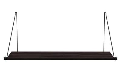 We Do Wood - Loop Shelf - Mørk bambus/sort