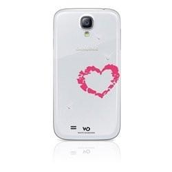 White Diamonds cover Samsung S4 Lipstick Heart - rosa