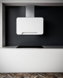 Witt WONDERWHITE Væghængt Emhætte - Hvid/glas
