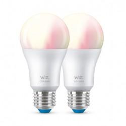 WiZ E27 A60 LED standardpære - farve + hvid - 2-pak