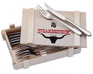 WMF Steakbestik/Grillbestik 12 dele Blank Stål