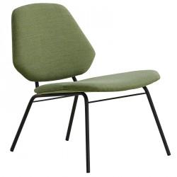WOUD - Lean Loungestol - Grøn polster