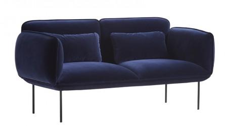 WOUD - Nakki 2-pers. sofa - Blå