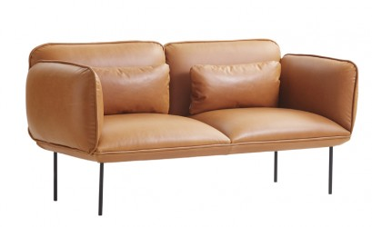WOUD - Nakki 2-pers. sofa - Brun