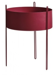 WOUD - Pidestall Vase - Rød