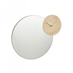 WOUD Timewatch vægspejl - spejlglas, m. ur