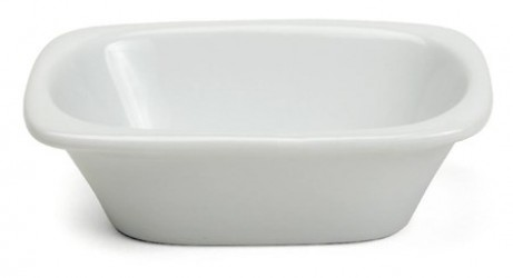 Xantia Badekarsskål 10x6,5cm, hvid