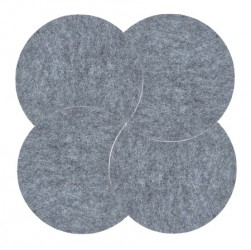 Zone Denmark Bordskåner - Grey - 4 stk. - Sæt - Moon - Filt - D 18,0cm - H 0,8cm - Sleeve