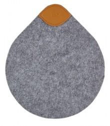 Zone Denmark Bordskåner - Grey - Stk. - Craft - Filt - PU - L 19,6cm - B 17,0cm - Hangtag