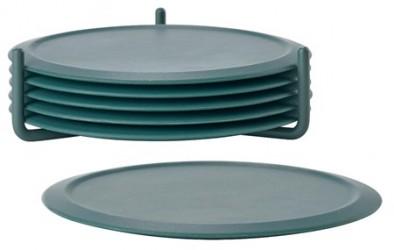 Zone Denmark Glasbrikker - Cactus - m. holder - Sæt - Singles - Silikone - Metal - D 10,0cm - H 3,1cm - Gaveæske - 6 stk.